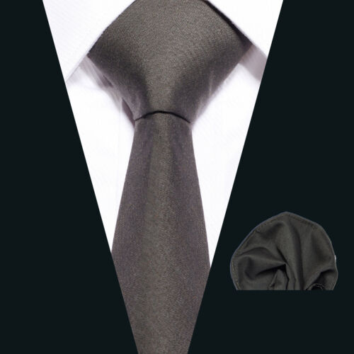 schmale KRAWATTE und EINSTECKTUCH Business Hochzeit festlich für Herren