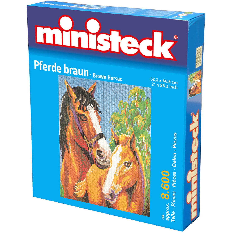 Pferde braun ca ca ca 8600 Teile Ministeck 31877 999071 d60d7f