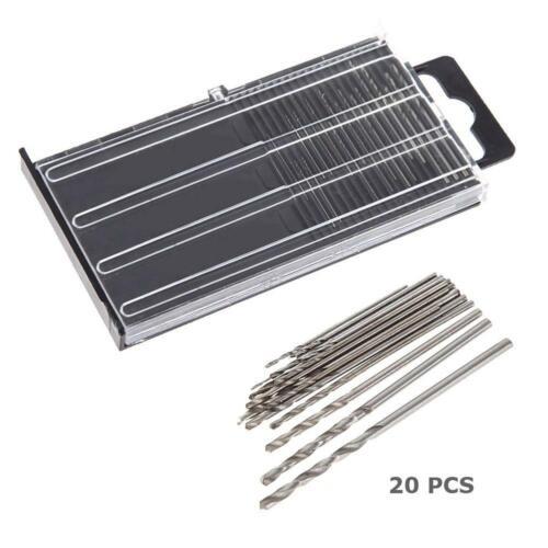 20x MICROBOX Tiny Micro HSS Twist Drill Bit Set 0.3mm-1.6mm Model Craft Repair