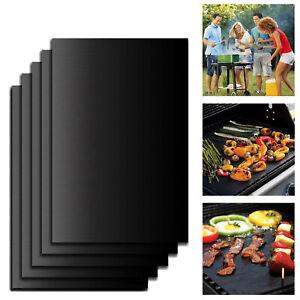 Grillmatte-Antihaft-BBQ-Teflon-Grill-Folie-Unterlage-Schale-Grillmatten-5er-Set