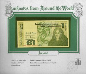 World Banknotes Ireland 10-07-1984 1 pound UNC P 70c UNC Low DKI 003591