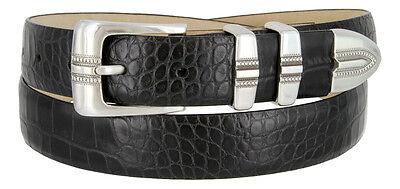 "Kaymen Italian Calfskin Leather Designer Dress Golf Belts for Men 1-1/8"" Wide"