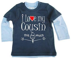 Bambino-SKATER-MAGLIA-034-I-LOVE-MY-COUSIN-This-MOLTO-034-a-manica-lunga-t-shirt