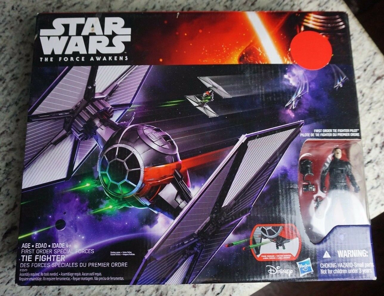 First Order Special Forces TIE Fighter 2015 STAR WARS Force Awakens w Pilot MIB