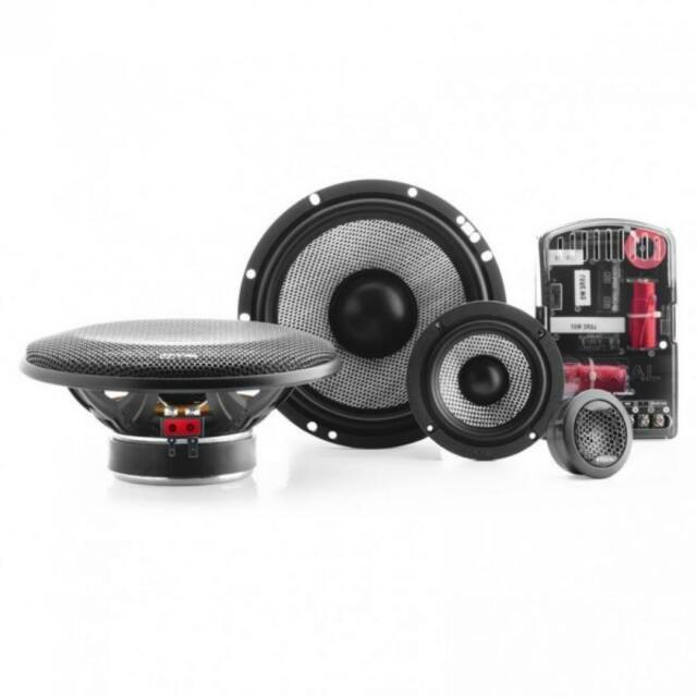 """Focal Access 165AS3 6.5"""" 3.5"""" 1"""" 3 Way Component Car Speaker Set 160w"""