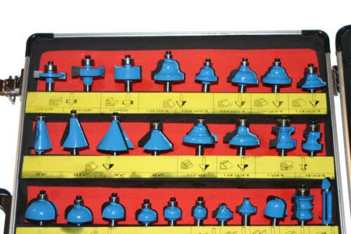 66 HM Fräser Oberfräser Schaft 8 mm im Alukoffer Fräsersatz Fräserset