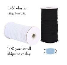 Same Day Shipping HIGH DEMAND! Elastic Knitted 1//8 Master Rolls Made in USA