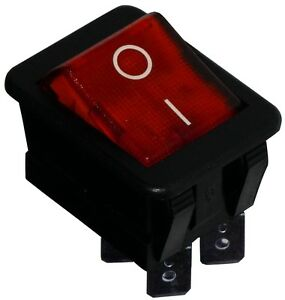 Fringant Interrupteur Commutateur Contacteur Bouton à Bascule Rouge Dpst On-off 16a/250v