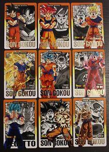 Carte Dragon Ball Z Carddass Spécial Gold Set Spécial Gokou Limited avc feuillet