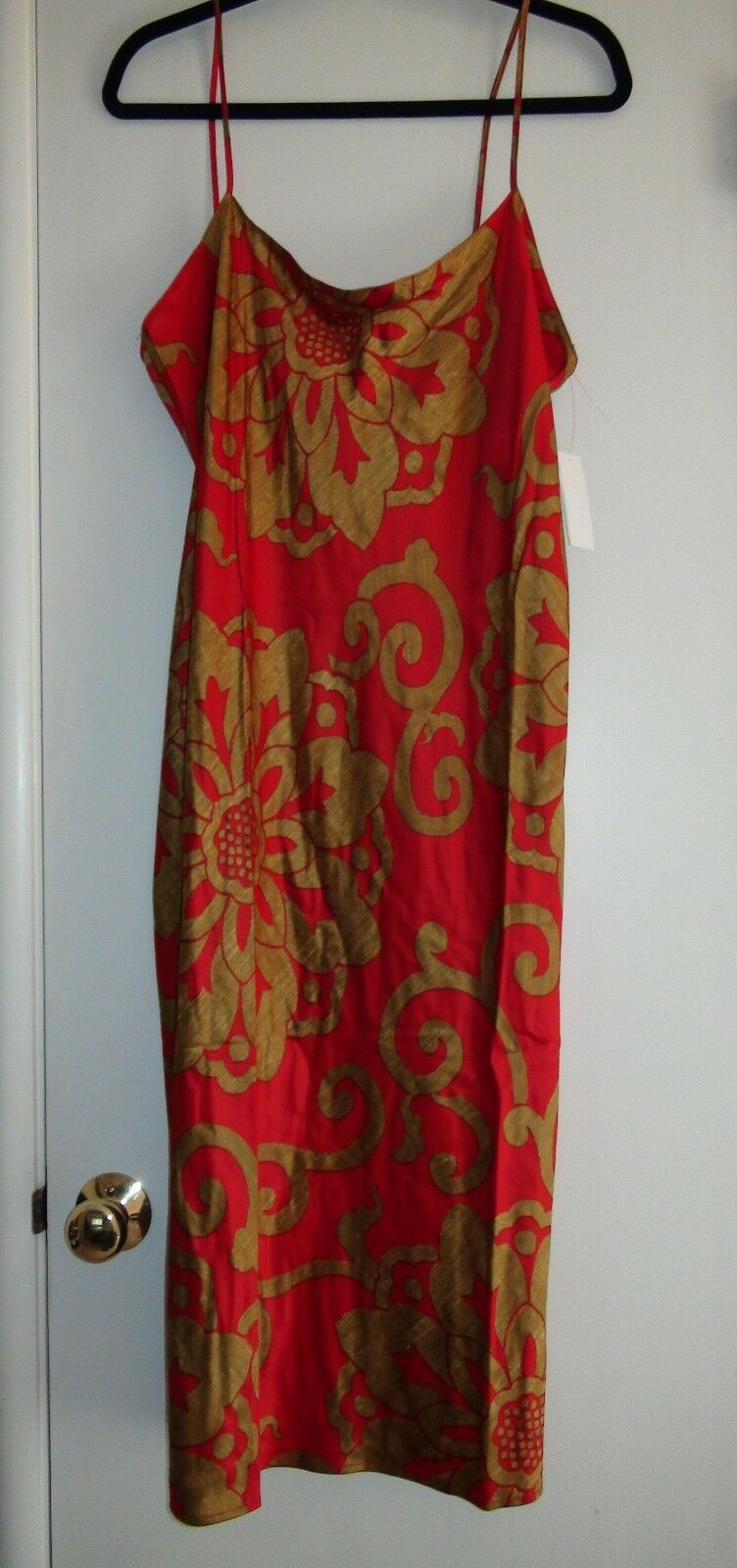 NATORI Private Luxuries Medallion Red gold Gown NWT  110 Sz S M & L V73047A