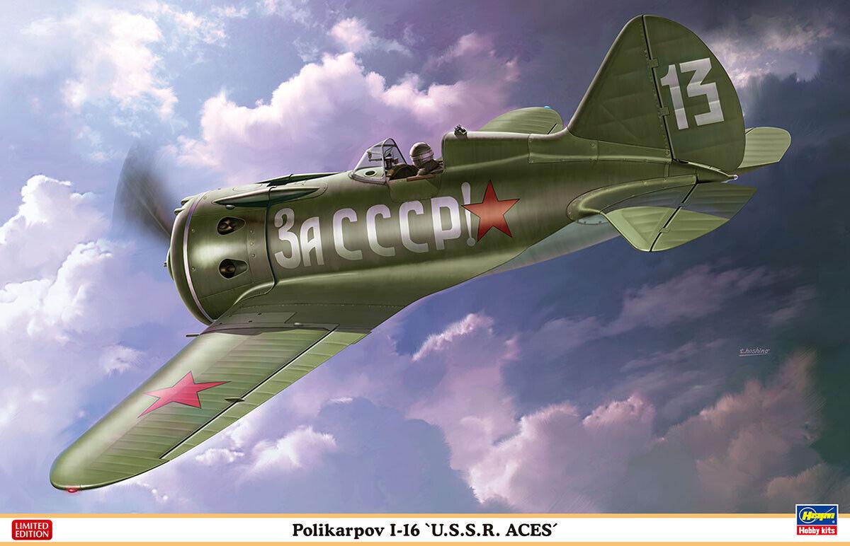 Hasegawa 1 32 Polikarpov I-16 'U.S.S.R. Aces'