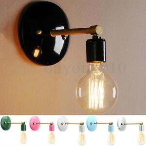 Loft Industrial Retro Vintage Sconce Wall Lamp Light Bulb Holder Bedroom Fixture eBay