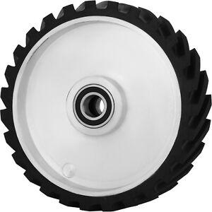 """VEVOR 4/""""x2/"""" Serrated Rubber Contact Wheel for Belt Sander Grinder 6006 Bearing"""