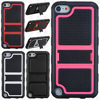 For Ipod Touch 6 6th Gen Tpu Impact Hard Skin Case Cover Kickstand +screen Guard