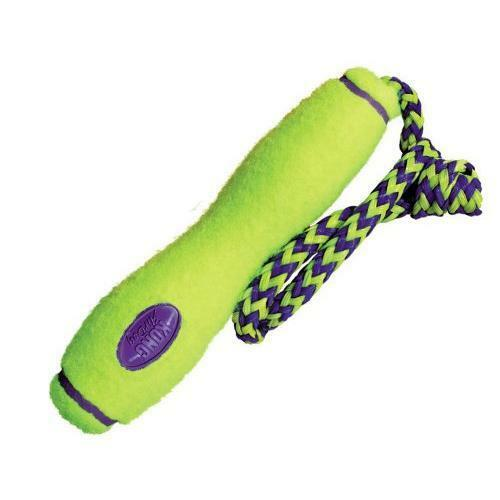 KONG Air Dog Fetch Rope Stick Outdoor Pet Toy, Large, Yellow