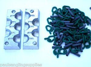 5-en-1-30-G-arriere-plomb-Moule-100-Boucles-clips-inclus-Peche-a-La-Carpe-Poids