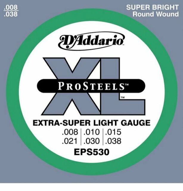 D'Addario EPS530 Pro Steels Electric strings 8-38