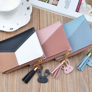 Cute-Tassel-Wallet-Women-Coin-Bag-Case-Leather-Simple-Bifold-Small-Handbag-Purse