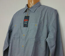 NWT Dockers Men's Shirt Alpha Collection Blue  Medium M Fitted Laundered Poplin