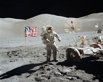 Enthusiastic Apollo 17 Eugene Cernan W/ Rover & Flag 11x14 Silver Halide Photo Print Distinctive For Its Traditional Properties Collectibles Historical Memorabilia