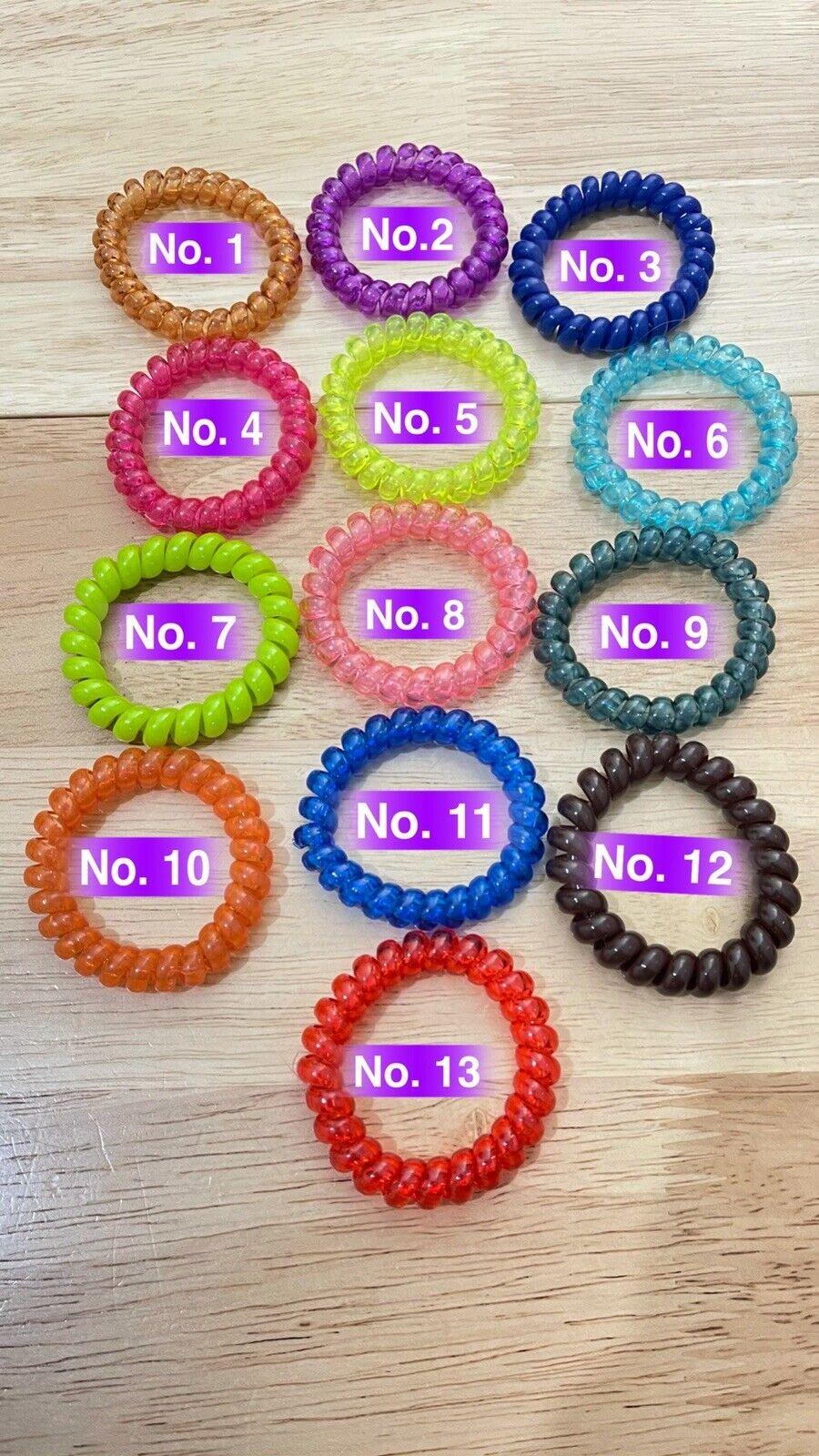 Women's/Girl's Quality Hair Bobbles Bands 13 Styles Spiral Random Colour 5 Pack