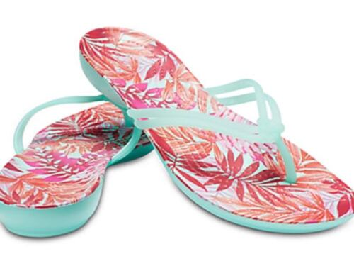 Mint tropical 7 Graphic Tongs Crocs Taille Isabella qwxUWn18