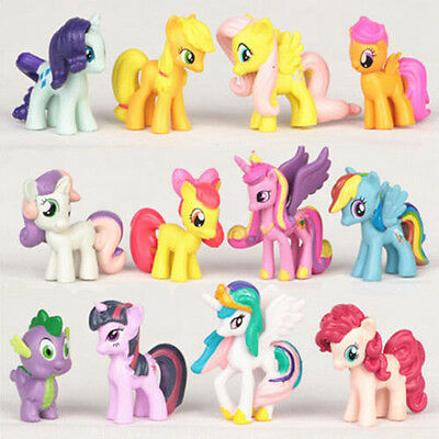 Cute 12pcs My Little Pony Animal Action Figures Doll Kids Children Baby Toy Set