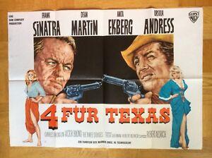 Vier-fuer-Texas-A1-Querplakat-64-Frank-Sinatra-Dean-Martin-Anita-Ekberg