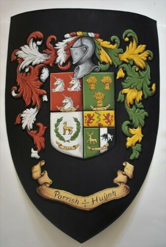 custom knight shield Metal heater shield coat of arms shield