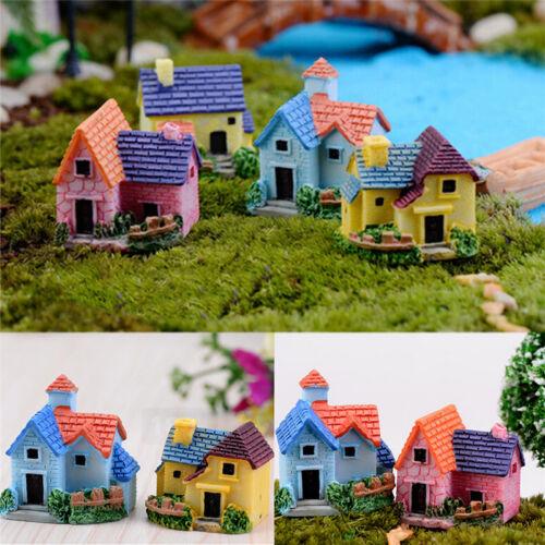 DIY Miniature Fairy Garden Craft Resin House Micro Landscape Decor HU