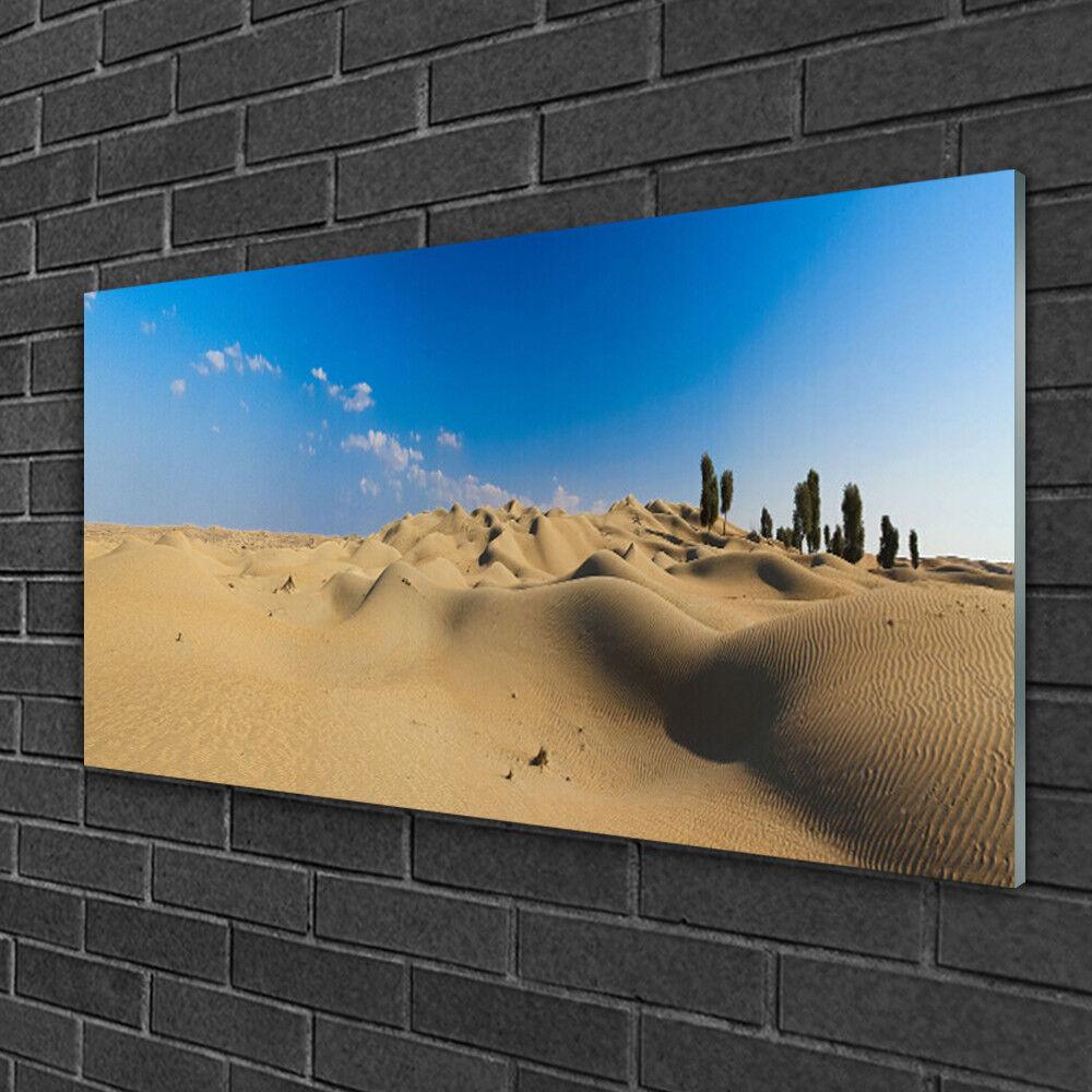 Tableau sur verre Image Impression 100x50 Paysage Désert