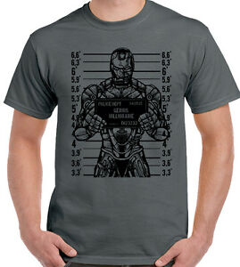GENIO-Billionaire-Hombre-Divertido-Iron-Man-Camiseta-Ironman-superheroe
