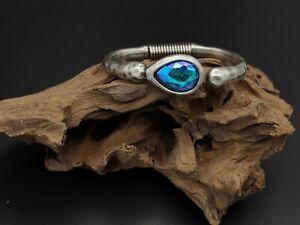 Pulsera Zamak alta calidad piedra cristal HUMO bisuteria pulseras ajustable