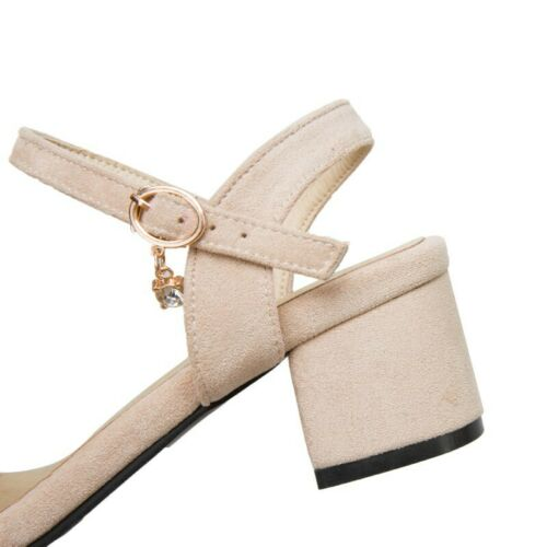 New Ladies Summer Sandals Dress Bowknot Ankle Strap Slingbacks Low Heel Shoes B