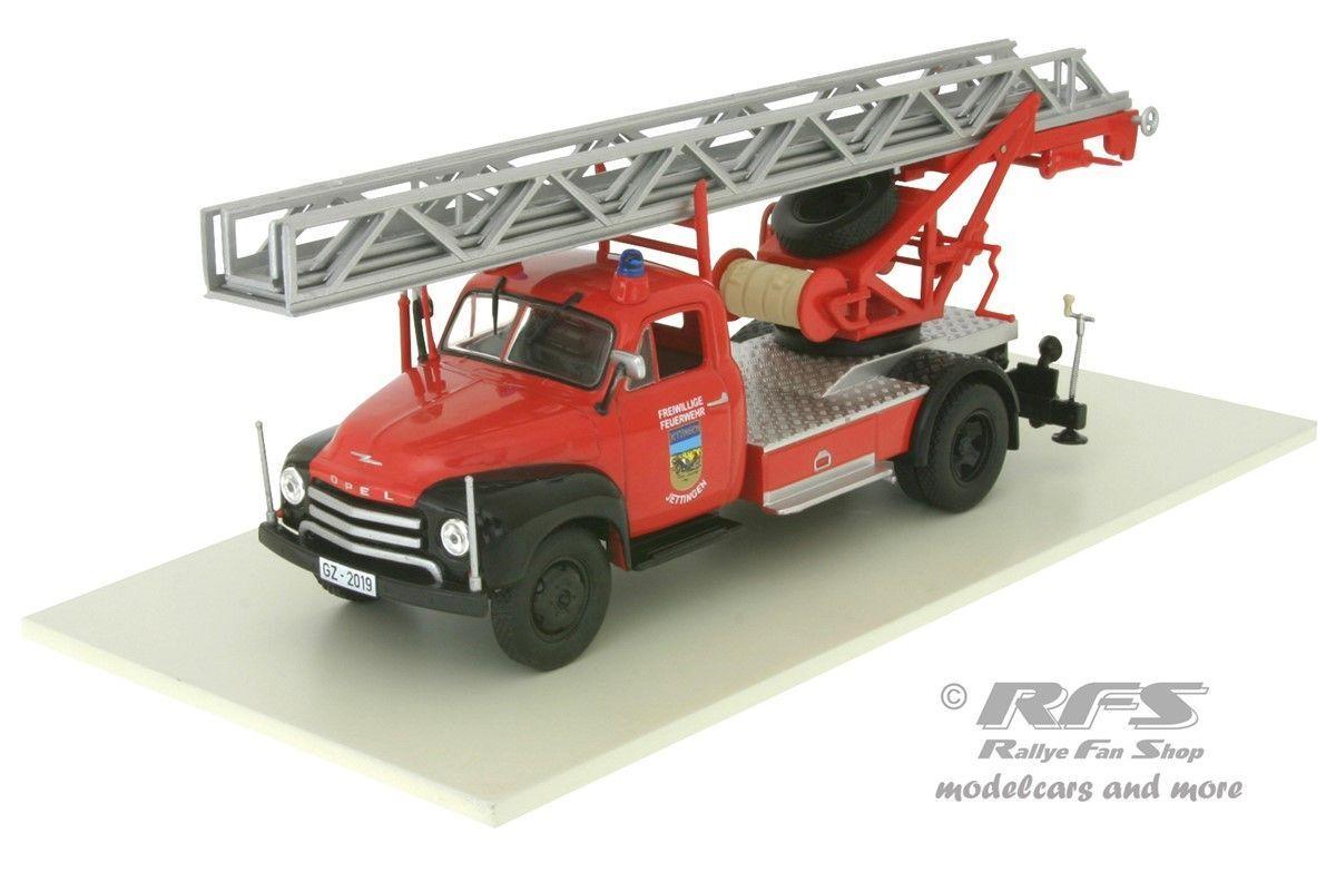 Magirus dl18 Opel Blitz pompiers chef voiture avec Drehleiter 1 43 ALTAYA IXO