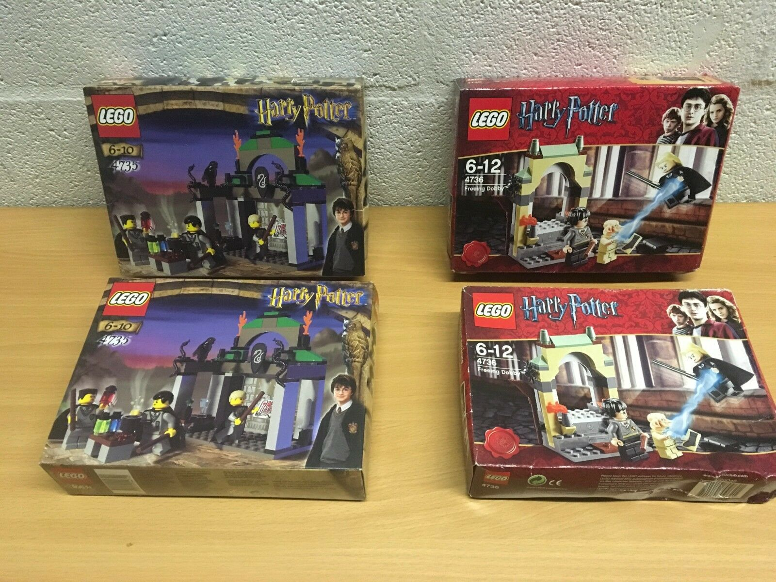 LEGO HARRY POTTER 4735 4736 NEW SEALED SLYTHERIN OR FREEING DOBBY