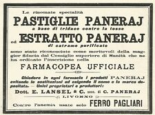 Y2188 Pastiglie Paneraj - Pubblicità del 1903 - Old advertising