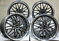 "18"" CRUIZE 190 GMP ALLOY WHEELS GUNMETAL POLISHED DEEP DISH 5X108 18 INCH ALLOYS"