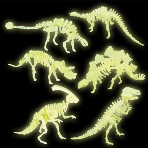 Glow in the Dark Dino Bones-Dinosaure Garçons Jouet JURASSIC Fête D/'Anniversaire Sac