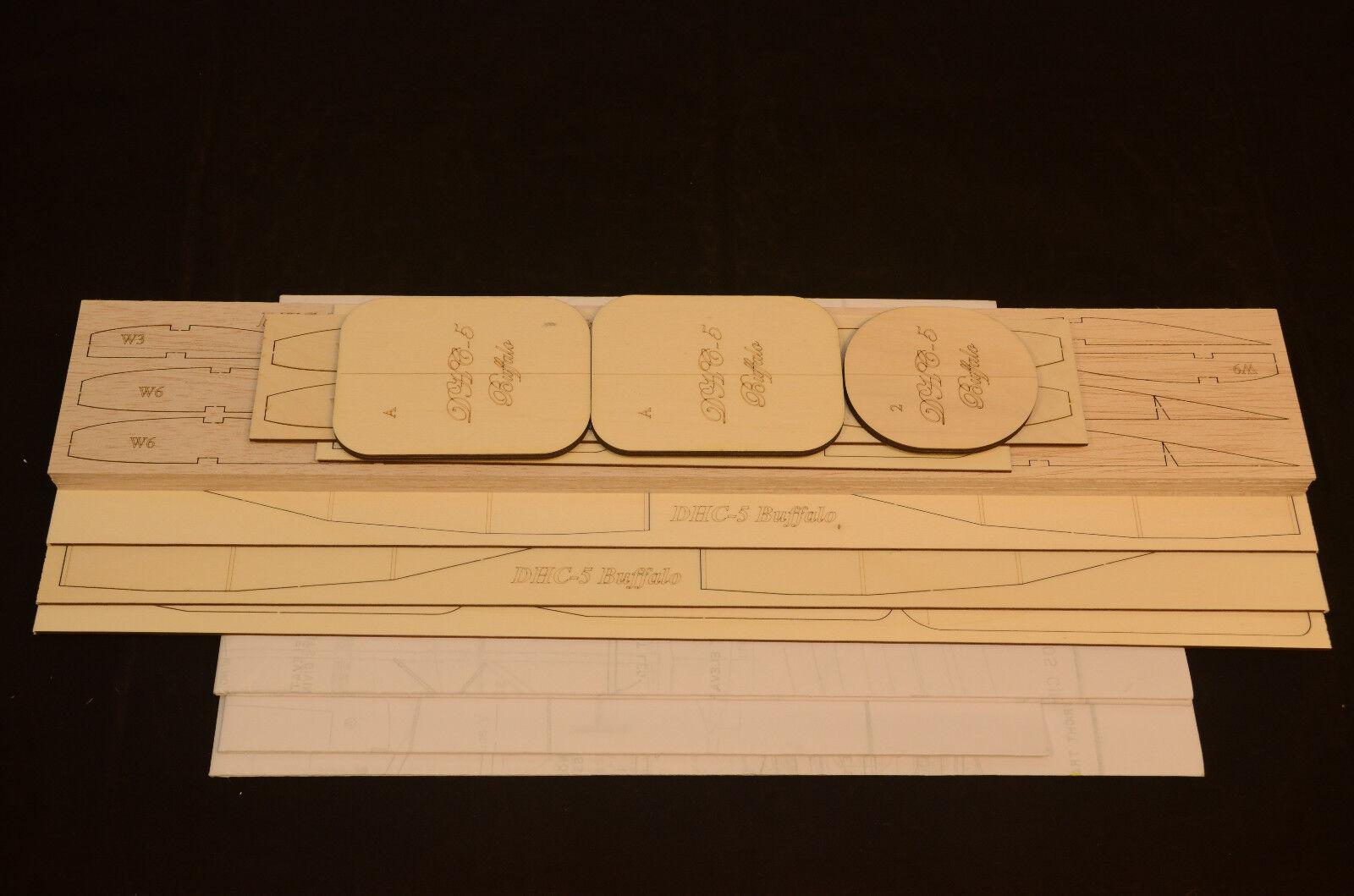 Dehavilland DHC-5 BUFFALO Laser Cut Short Kit & Plans 94 WS Electric or Nitro