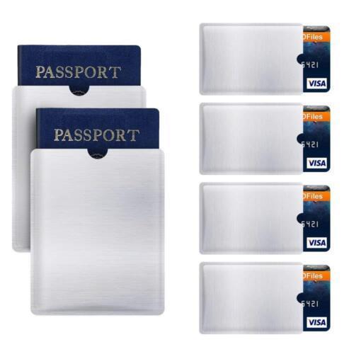 Anti-Scan Stainless Steel Case Slim RFID Blocking Wallet ID Credit Card Holder
