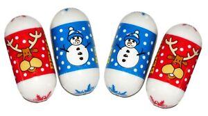 30 CHRISTMAS JUMPING BEANS BOYS GIRL Toys Snowman Reindeer Xmas STOCKING FILLER