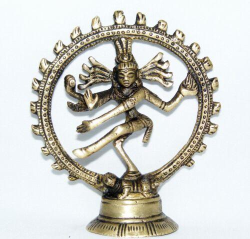 TANZENDER SHIVA 9,5CM HOCH HIMALAYA BUDDHA DANCING NATARAJA  YOGA MEDITATION GOA