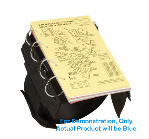 FB1316 Blue Military or Civilian Flyboys IFR//VFR Pilot Kneeboard w// Clip