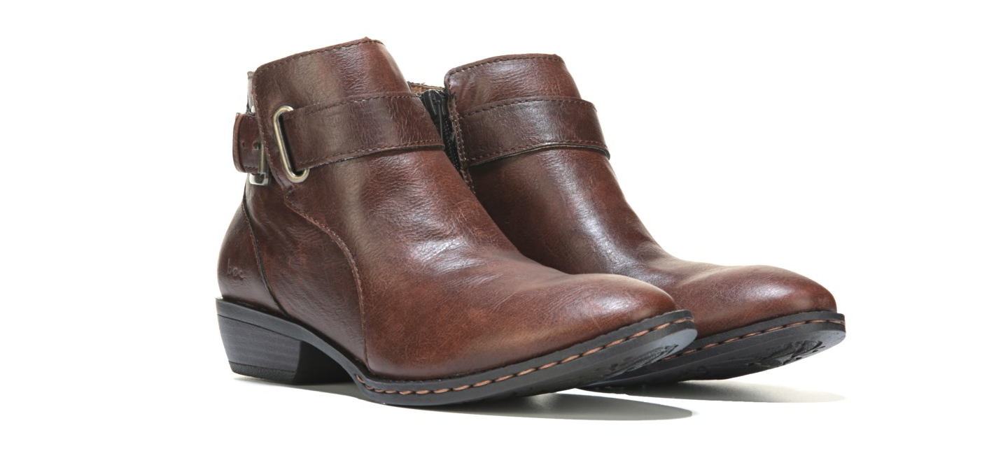 NEW BROWN BORN B.O.C MCLEOD ANKLE BOOTS WOMENS 6 BROWN NEW BOOTIES C98406 ZIP SIDE 8ce308