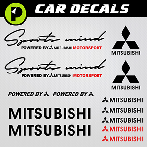Details About Mitsubishi Decals Sports Mind Powered By Evo Stickers Lancer Eclipse 3000gt Line