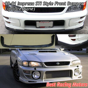 Image Is Loading STi Style Front Bumper Lip Urethane Fits 99