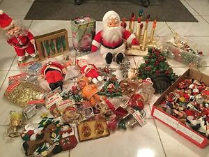 Vintage Christmas Decorations.Details About Huge Lot Of Rare Vintage Christmas Decorations Tree Toppers Ornaments