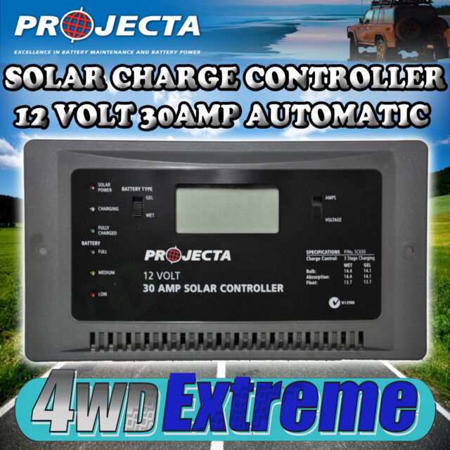 PROJECTA SOLAR CHARGE CONTROLLER 30AMP 12 VOLT CARAVAN PANEL CHARGER SC030 360W
