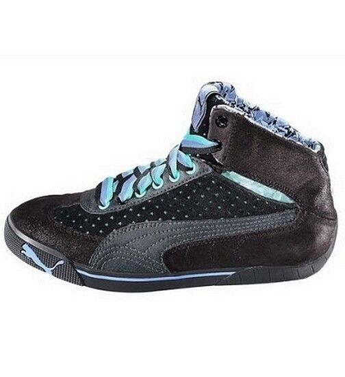 PUMA Speed Cat 2.9 Stars Sneaker Gr.36-39 Schuhe Leder Schwarz-Mint UK 3,5-6